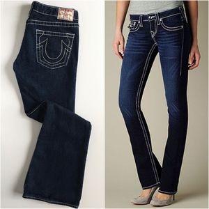 True Religion Bobby Big T White Stitch Jeans